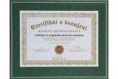 Certifikát k dosažení bojové pohotovosti