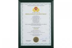 Certifikát připravenost k  plnění úkolů